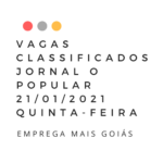 CLASSIFICADOS O POPULAR EMPREGOS